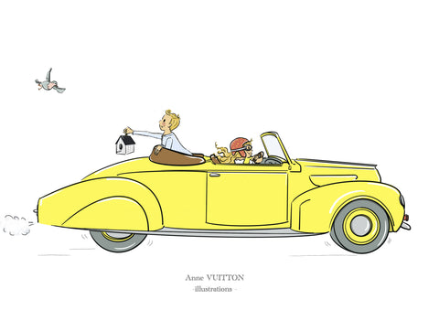 On the road... - ANNE VUITTON illustrations-