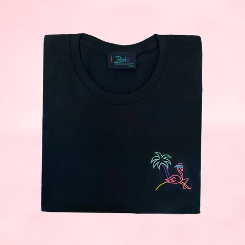 Woman glow in the dark T-Shirt - Retro flamingo