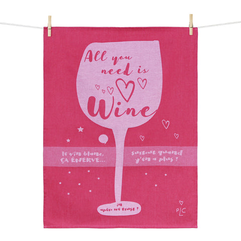 Kitchen Towel – All you need is wine