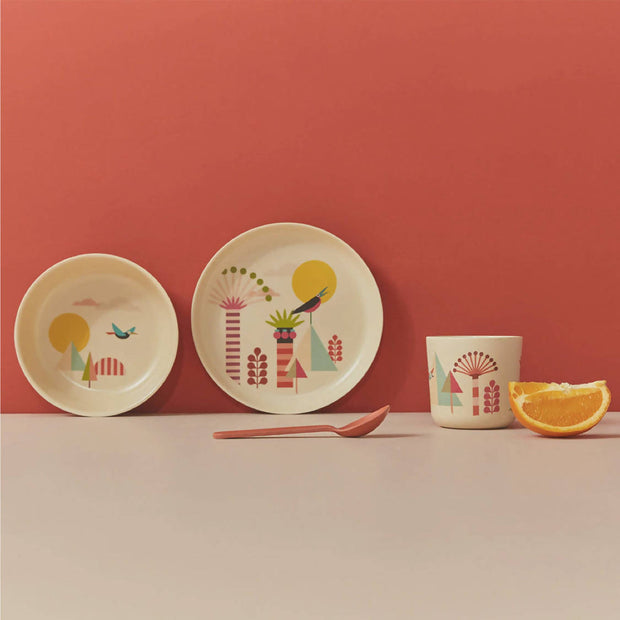 Kids Bamboo Meal Set Tree - Ekobo