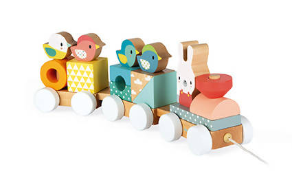 Pure wooden train- Janod