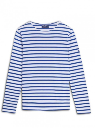 Breton Stripe Shirt - Minquiers Moderne White/Royal-Blue