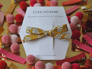 Hair Clip - Mustard Single Bow
