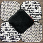 5 Make-up remover wipes - Black Bamboo Velour