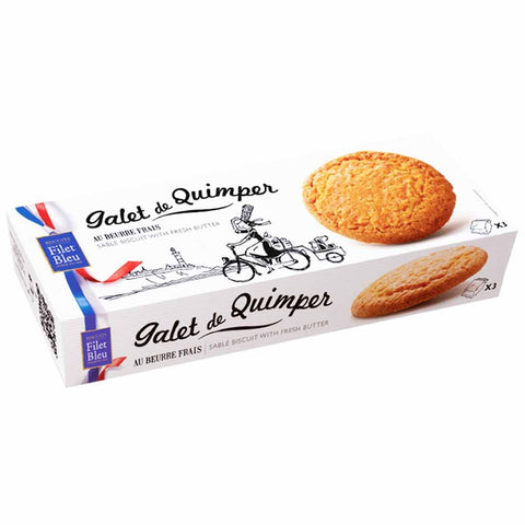 Galet de Quimper, French Cookies - Filet bleu