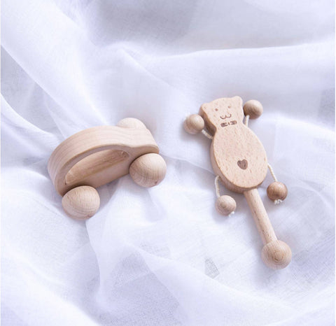 5 Piece Wooden Toys for Newborn Baby