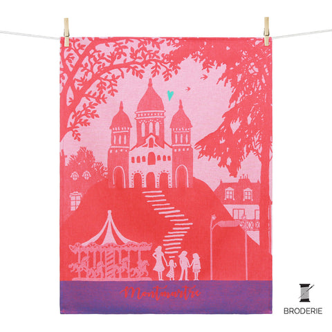 Kitchen Towel –  Montmartre - coeur brodé