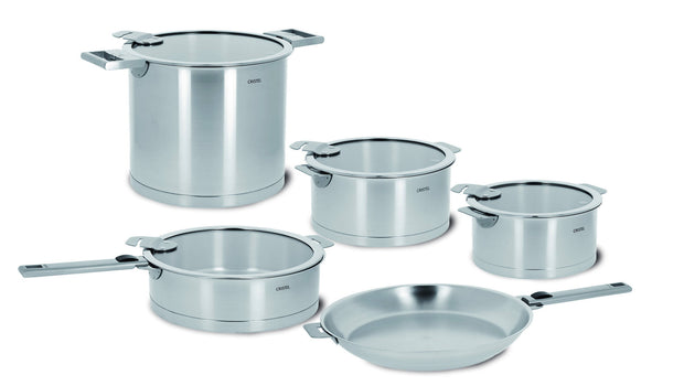Cristel Strate 13 Piece Set (Stainless Steel Handles)