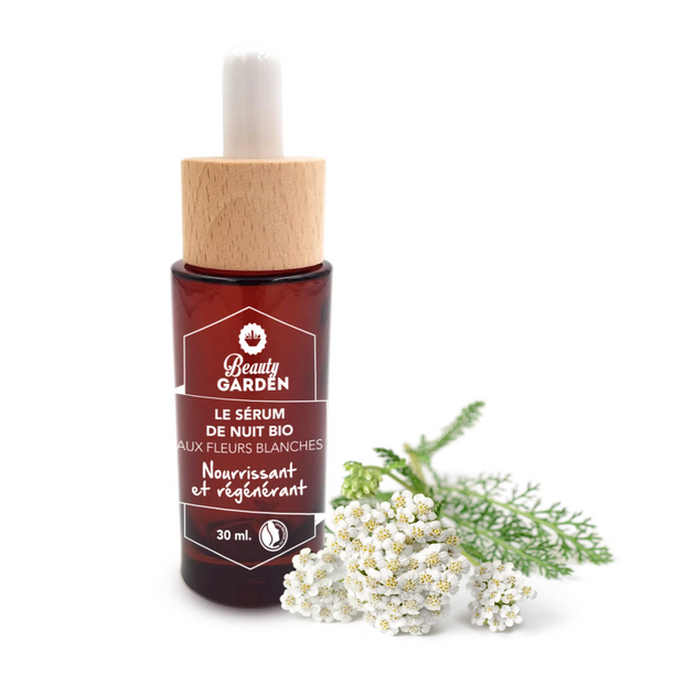Organic White Flowers Night Serum - Regenerating