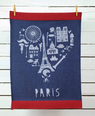 Kitchen Towel – Paris heart