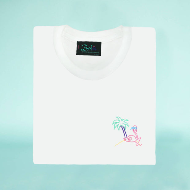 Unisex glow in the dark T-Shirt - Retro flamingo