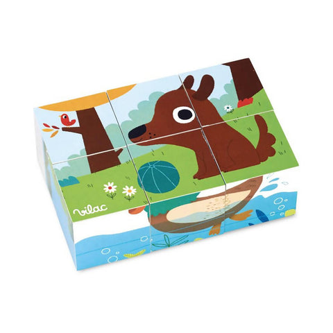 Animals Wooden Cubes - Vilac