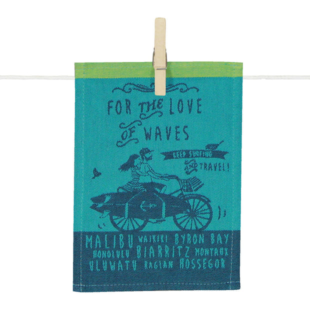 Kitchen Towel – For the love of waves