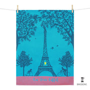 Kitchen Towel –  Tour Eiffel coeur brodé