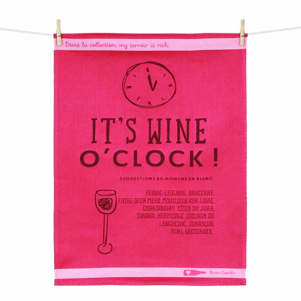 Kitchen Towel – Wine O'Clock