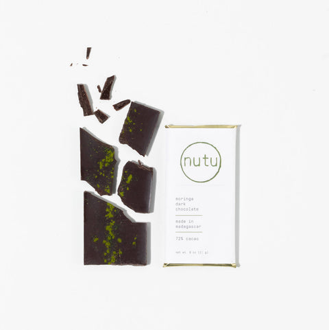 Moringa dark chocolate bar