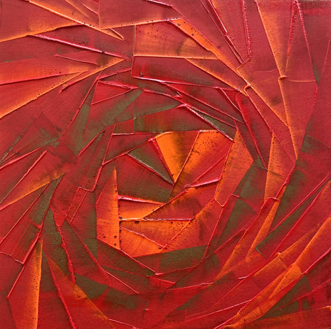 Original Painting - Red & bronze Roses