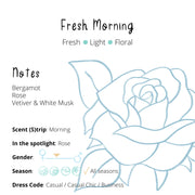 Perfume - Fresh Morning : Rose