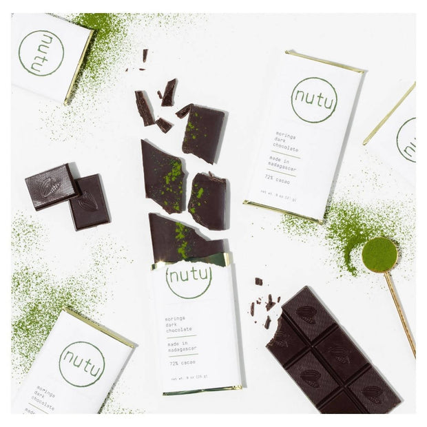 Moringa dark chocolate bar x12