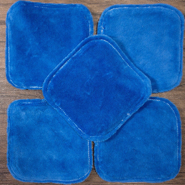 5 Make-up remover wipes - Blue Bamboo Velour