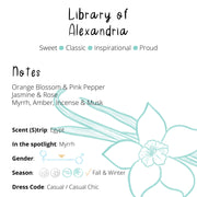 Perfume - Library of Alexandria : Orange Blossom / Vanilla