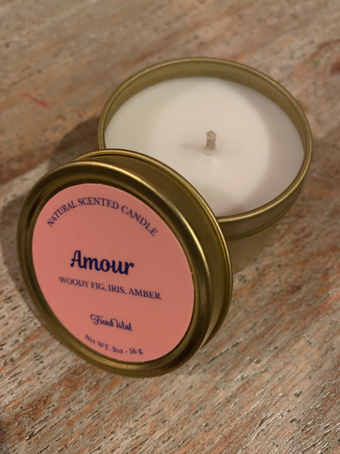 Mini Natural Candle - Amour