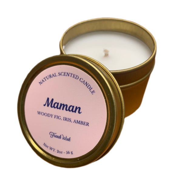 Mini Natural Candle - Maman