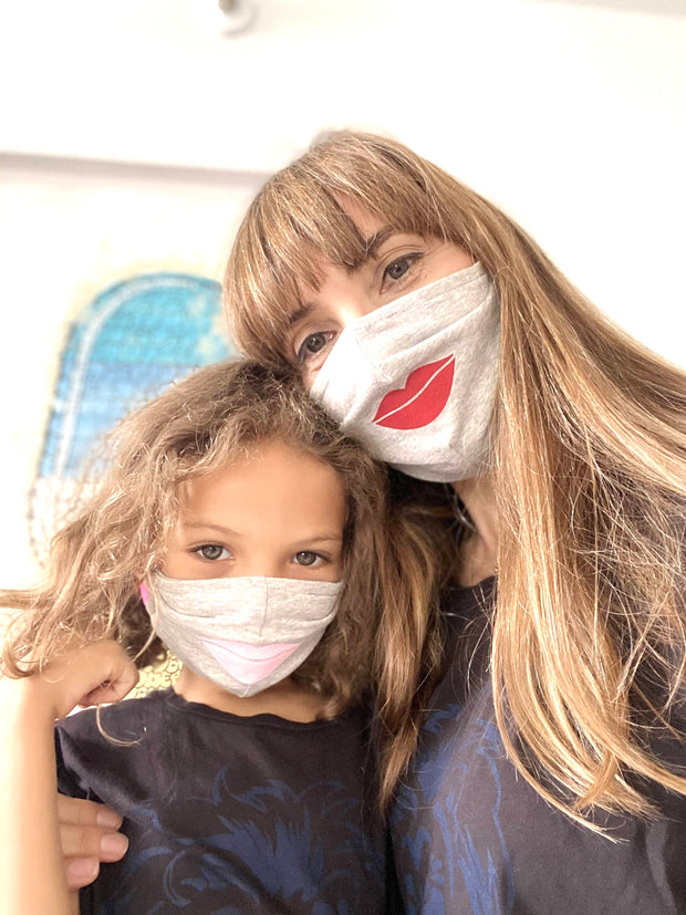 Face Covering Lipstick Mommy and me for Adult and Kids