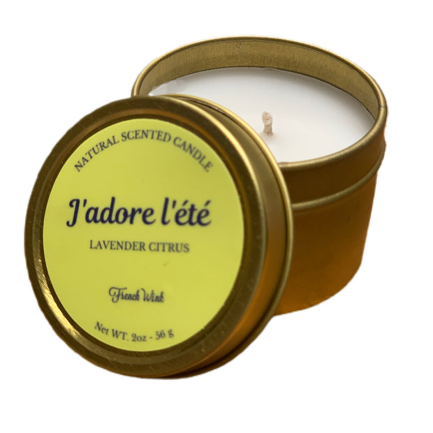 Mini Natural Candle - French Summer