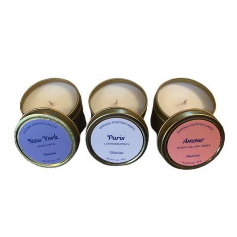 Mini French Wink Natural Candles