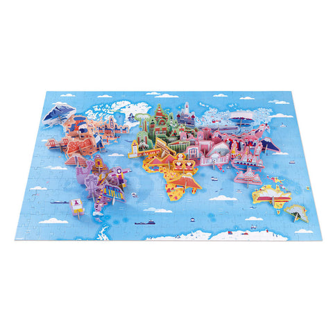 Educational puzzle world curiosities - 350 pieces- Janod