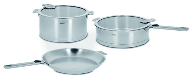 Cristel Strate 7 Piece Cookware Set (Stainless-Steel)