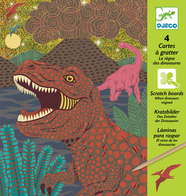 When dinosaurs reigned - scratch cards - Djeco