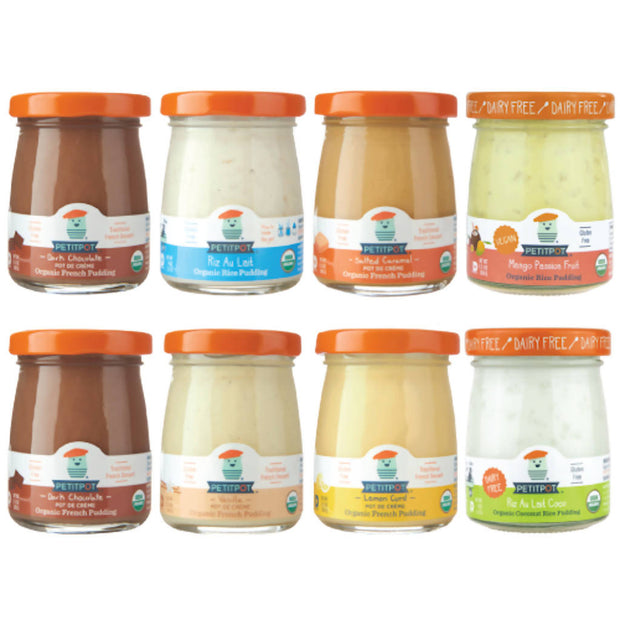 Pots de Crème & Rice Pudding Variety Pack (Set of 8)