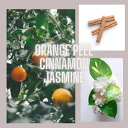 Spiced Orange - Orange Peel, Cinnamon & Jasmine Natural Candle