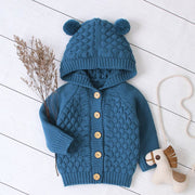Knitted Hooded Jacket