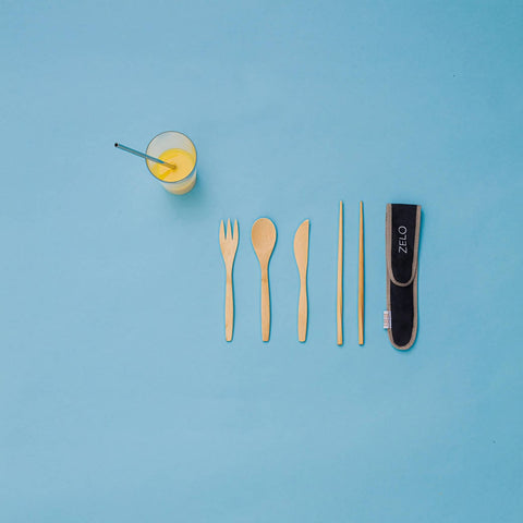 Zelo straw & utensils bundle