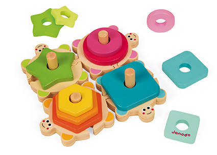 Wood stackable turtles- Janod