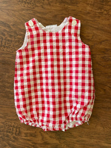 Red and White Gingham Bubble