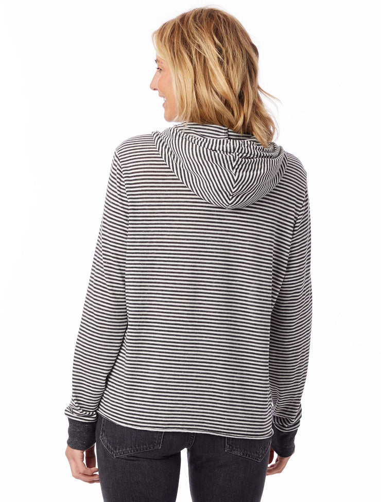 Alternative Apparel: Day Off Eco Jersey Striped Hoodie