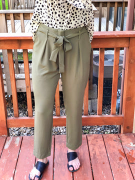 Olive Pocket Trousers