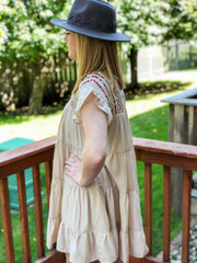 Embroidered Stone Dress