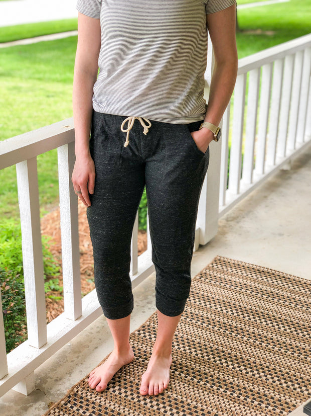 Cropped Jogger - Eco Black - Simply Lynn's Boutique
