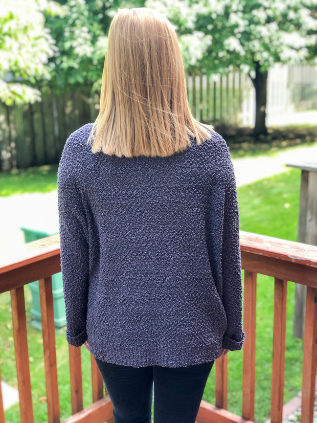 Popcorn Pullover - Charcoal