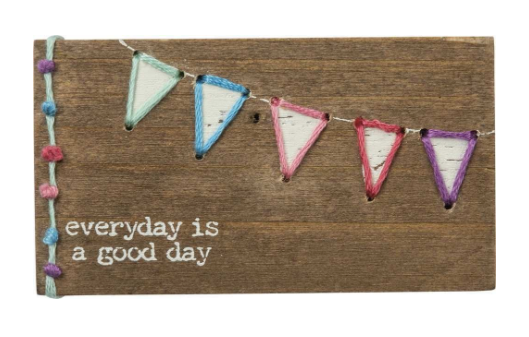Good Day Stitched Block Magnet - Simply Lynn's Boutique