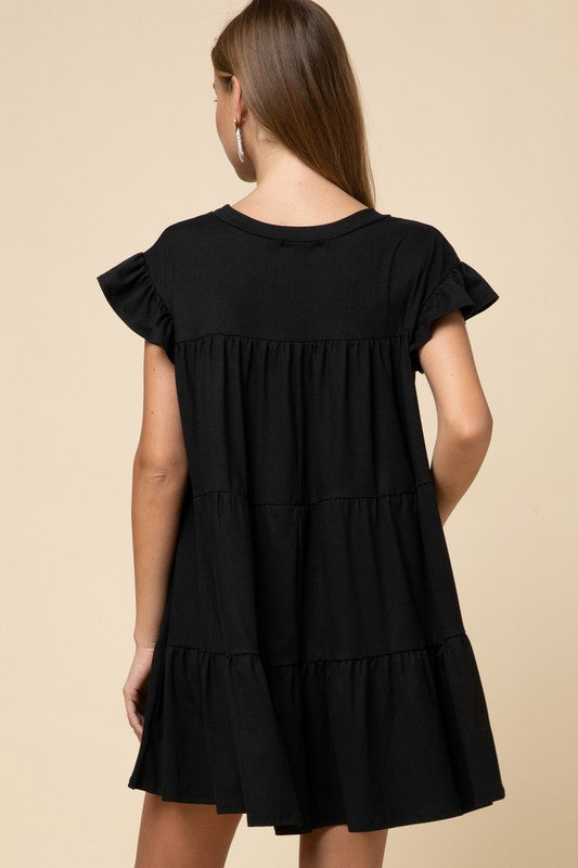 Tiered Dress - Black