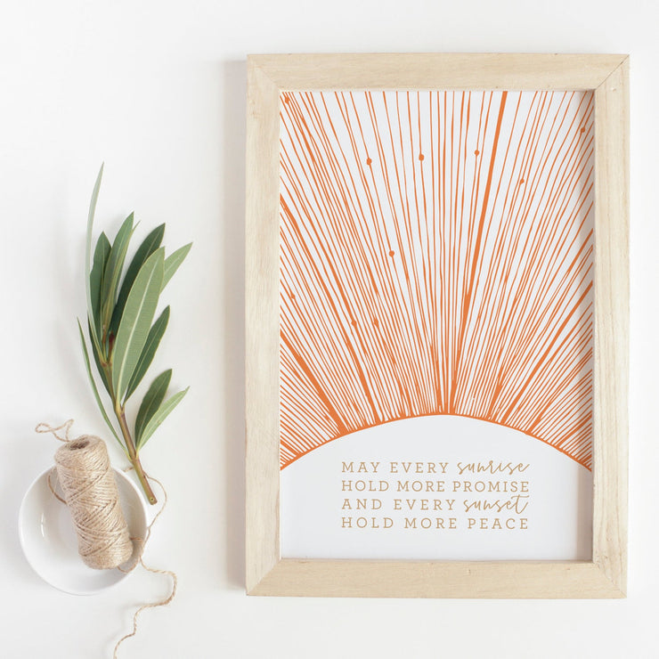 May Every Sun Rise Print