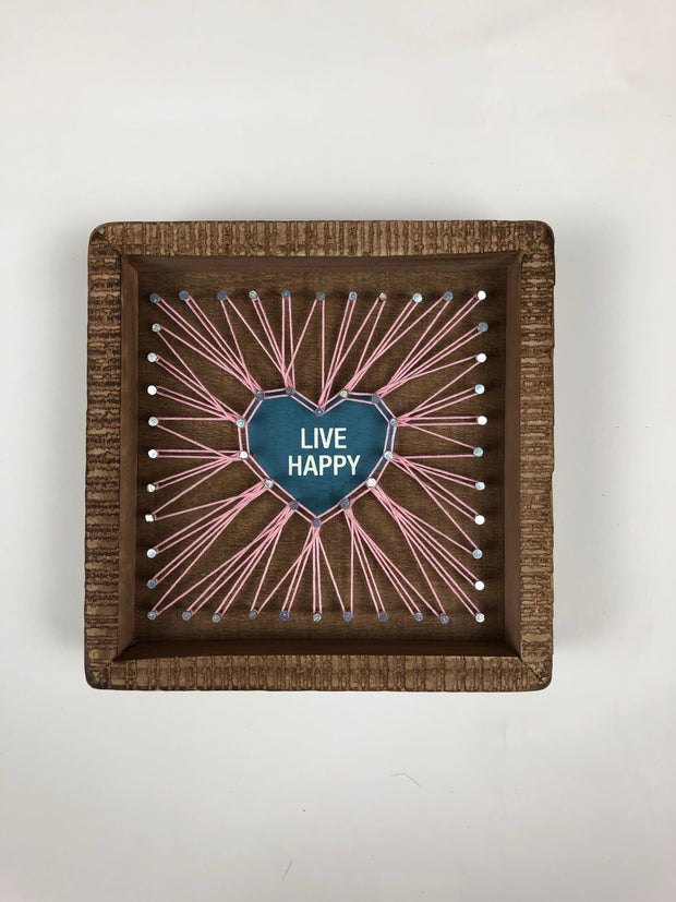 Live Happy String Art - Simply Lynn's Boutique