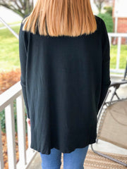 Better Days Tunic Sweater - Black