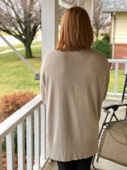 Better Days Tunic Sweater - Heather Grey
